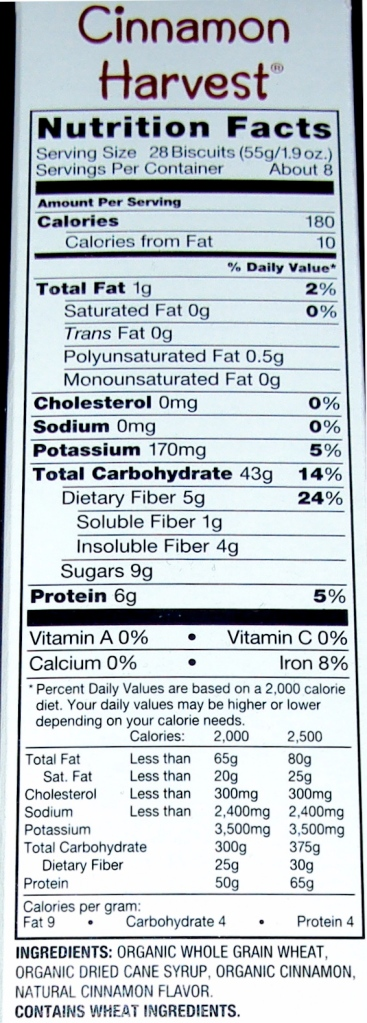 Ingredients & Nutritional Facts